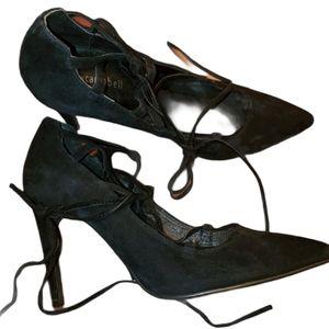 Jeffrey Campbell Black Suede Heels